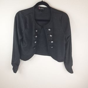 Delirious Open Front Blazer With  Buttons - Size M